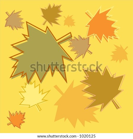 fall leaves background tile