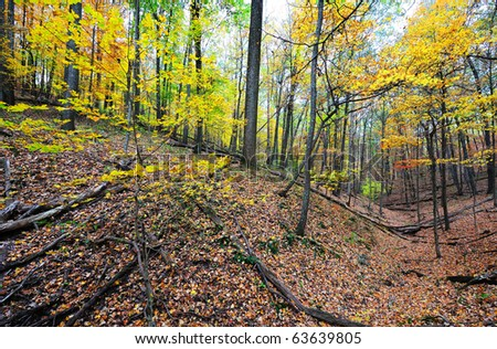 fall mountain - stock photo