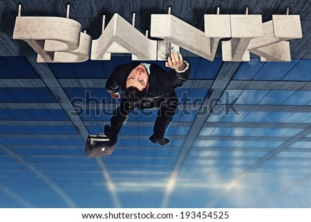Fall of the bankrupt - stock photo