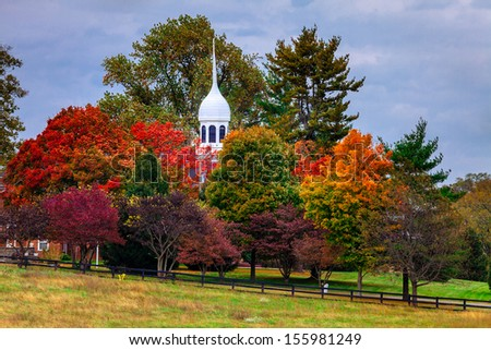 Fall scene in rural Kentucky - stock photo