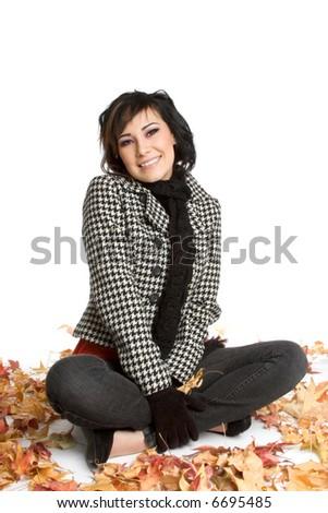 Fall Woman - stock photo