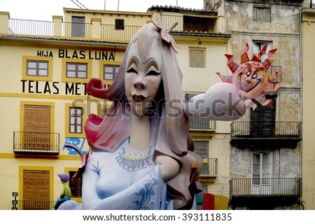Fallas, Valencia, Spain - March 2006 - stock photo
