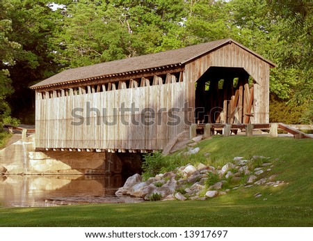 Fallasburg Bridge - stock photo