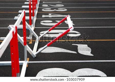 Fallen Hurdle - stock photo