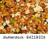 Fallen leaves on the water surface - stock photo
