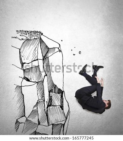 Falling - stock photo