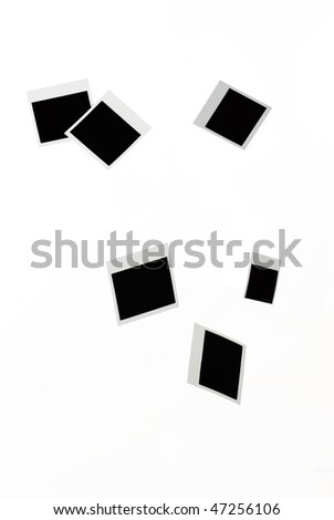 falling blank photo frames - stock photo