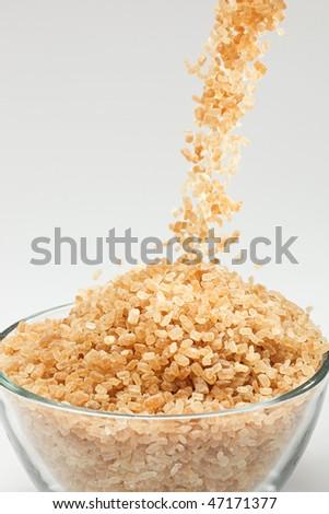 Falling cane sugar - stock photo