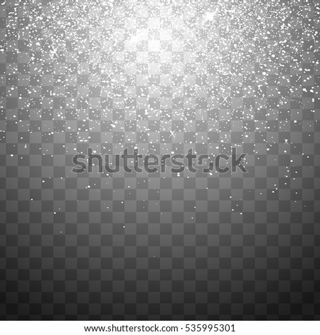 Falling Christmas Shining transparent beautiful snow isolated on transparent background. Snowflakes, snowfall. snowflake