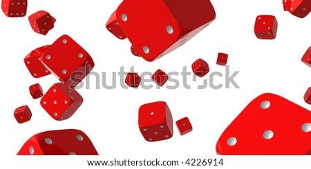 Falling dice - stock photo