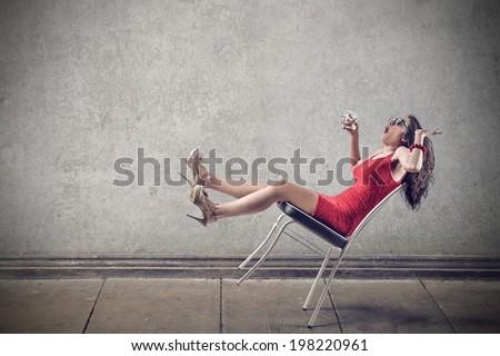 falling down - stock photo