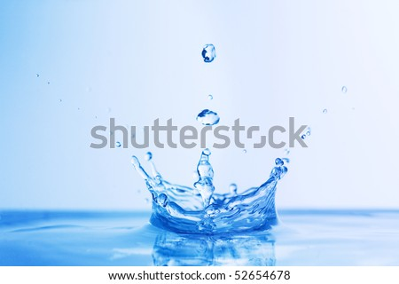 falling drop splash - stock photo