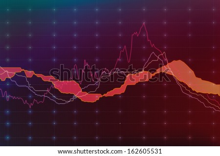 Falling market, screen illustration. - stock photo