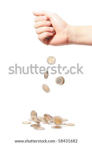 Falling Money - stock photo