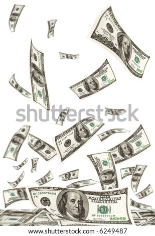 Falling money - stock photo