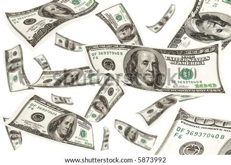 Falling money, XXL - stock photo