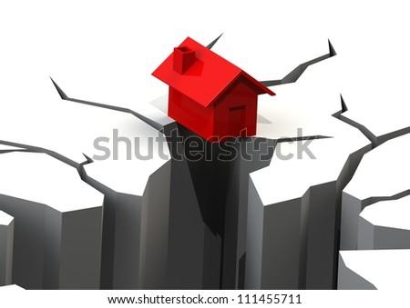 Falling Real Estate - stock photo