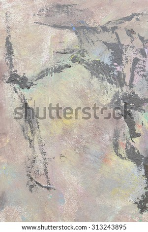 falling unknown soldier original oil painting - stock photo