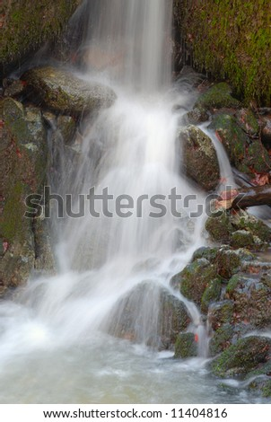 Falling water - stock photo