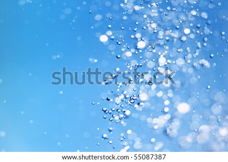 Falling water drops - stock photo