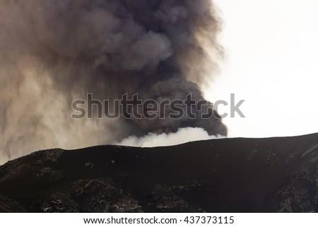 Fallout volcano ash - stock photo