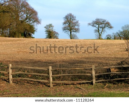 Fallow Field - stock photo