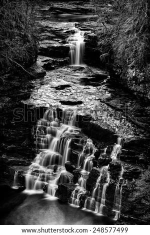 Falls of Clyde, Lanark, Scotland - stock photo