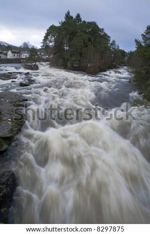 Falls of Dochart, Killin, Scotland - stock photo