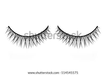 False lashes isolated on white