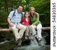 Family adventure - stock photo
