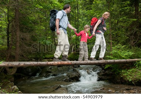 Family adventure - stock photo