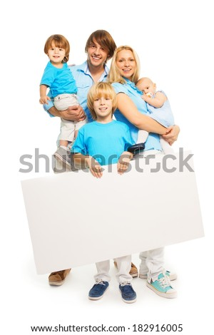 Family and advertising - stock photo