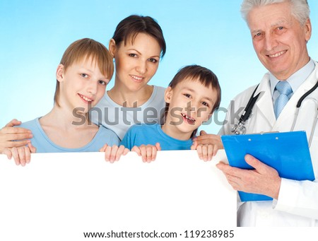 family and doctor - stock photo