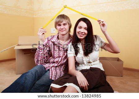 Family background: new home, family, safety - stock photo