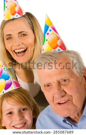 family birthday party  - stock photo