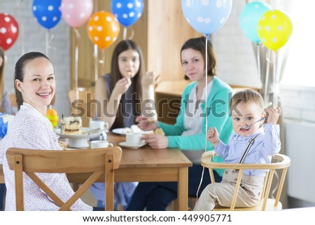 Family birthday party for little baby boy