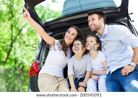 Family car - stock photo