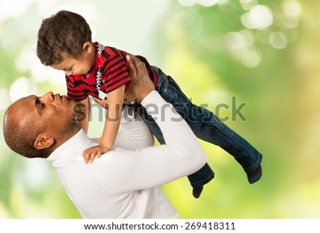Family, Child, Senior Adult. - stock photo