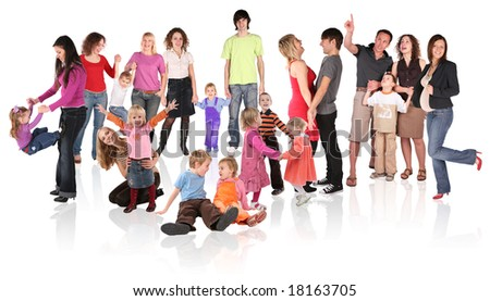 family collage - stock photo