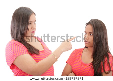 Family conflict  - stock photo