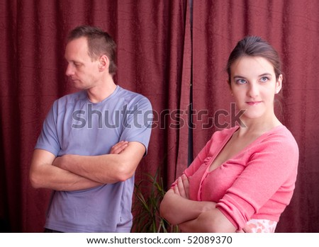 family conflict between man and woman