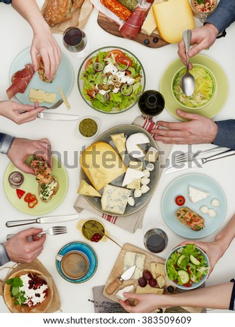 Family dinner - stock photo