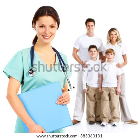 Family doctor woman.