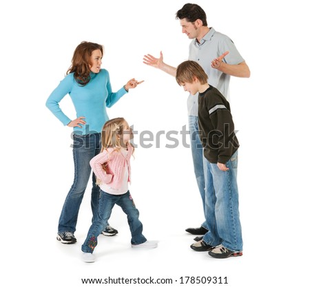 Family: Family Members Arguing And Confrontational - stock photo
