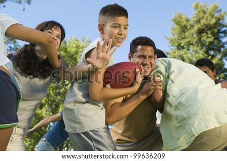 Family Football Game - stock photo