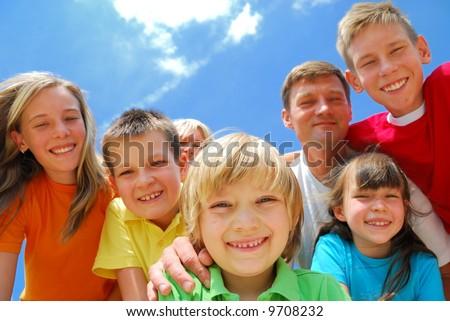 Family fun - stock photo