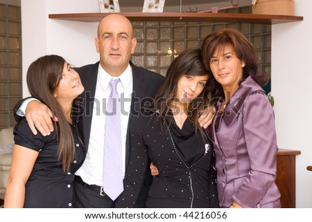 family gathering - stock photo