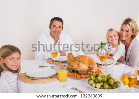 Family going to eat a turkey
