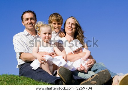 family group - stock photo