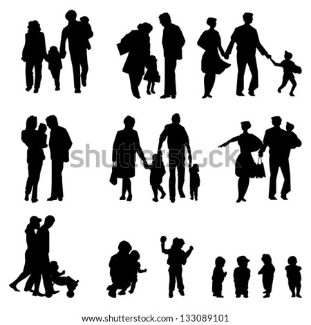 family groups, - stock photo